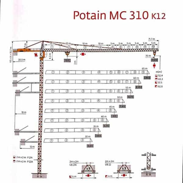 تاور کرین MC310 K12