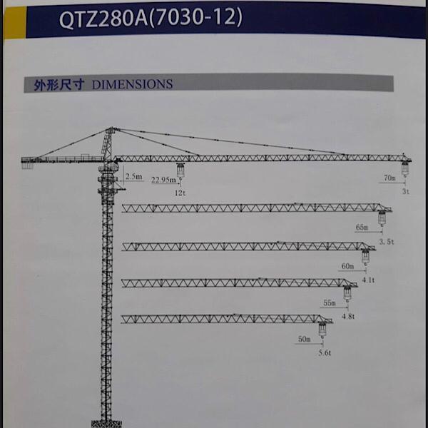 تاور کرین (QTZ280(7030